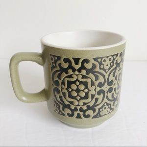VINTAGE Japanese Decorative Stoneware Mug